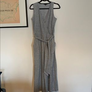 Grey romper with pockets